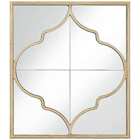 "Alsey Champagne Moroccan 20 1/4"" x 23"" Wall Mirror"