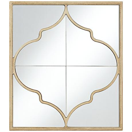 """Alsey Champagne Moroccan 20 1/4"""" x 23"""" Wall Mirror"""