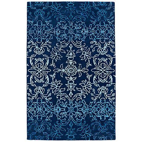 Kaleen Divine DIV01-17 Blue Floral Ombre Wool Area Rug