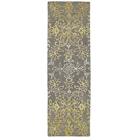 Kaleen Divine DIV01-49 Brown Floral Ombre Wool Area Rug