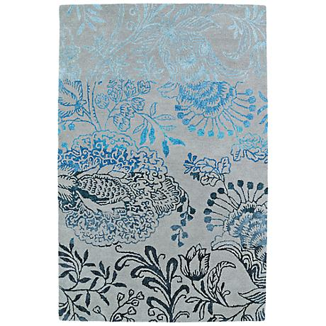 Kaleen Divine DIV02-100 Ice Blue Ombre Wool Area Rug