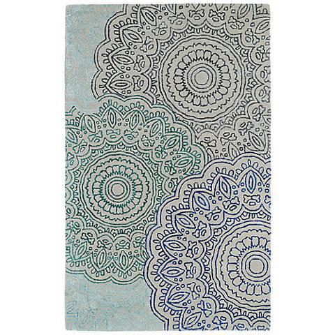 Kaleen Divine DIV03-86 Ivory Medallion Wool Area Rug