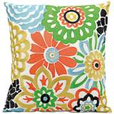 "Mina Victory Multi-Color 18"" Floral Indoor-Outdoor Pillow"