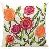 "Mina Victory Orange and Pink 18"" Indoor-Outdoor Pillow"