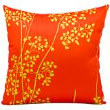 "Mina Victory Orange and Yellow 20"" Indoor-Outdoor Pillow"