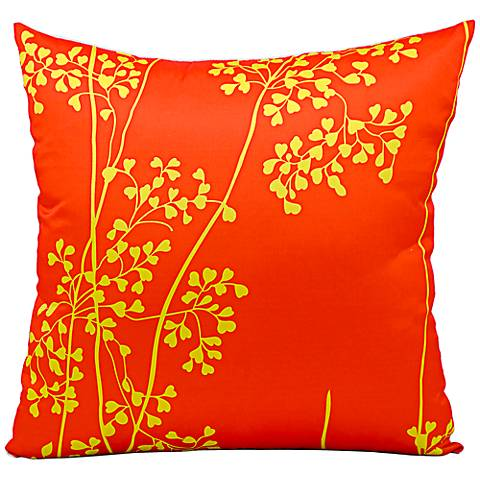 """Mina Victory Orange and Yellow 20"""" Square Outdoor Pillow"""