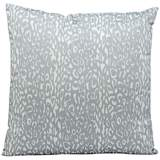 "Mina Victory Leopard 20"" Square Gray Outdoor Pillow"