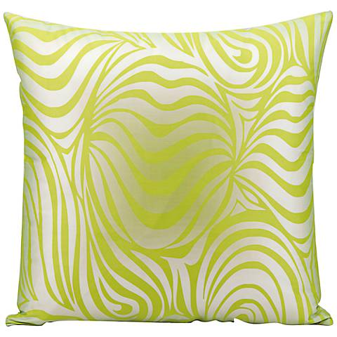 "Mina Victory Wave 18"" Lime Green Indoor-Outdoor Pillow"