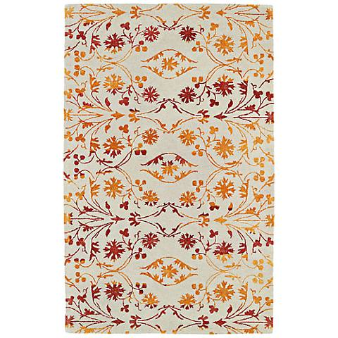 Kaleen Divine DIV05-98 Fire Red and Orange Wool Area Rug