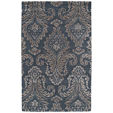 Kaleen Divine DIV06-75 Gray Wool Area Rug