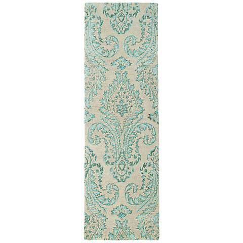 Kaleen Divine DIV06-78 Turquoise Blue Wool Area Rug