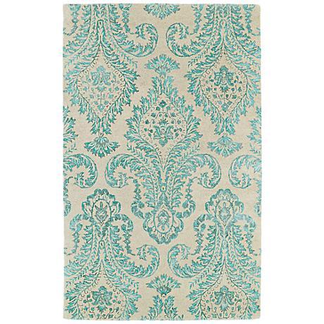 Kaleen Divine DIV06-78 Turquoise Blue Wool Area Rug