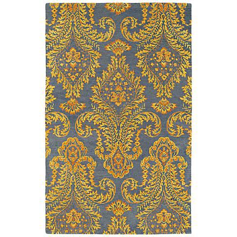Kaleen Divine DIV06-98 Fire Orange and Gray Wool Area Rug