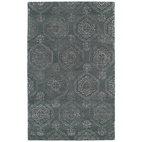 Kaleen Divine DIV07-102 Pewter Green Wool Area Rug