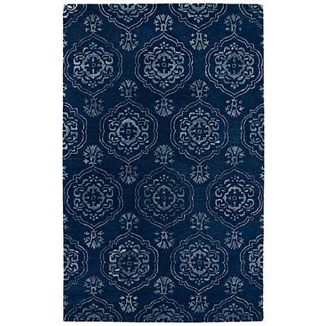 Kaleen Divine DIV07-22 Navy Blue Wool Area Rug