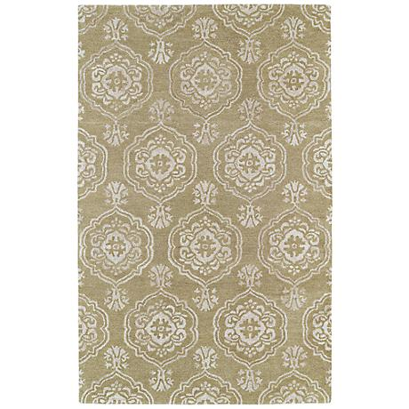 Kaleen Divine DIV07-82 Light Brown Wool Area Rug