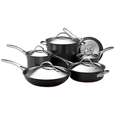 Anolon Copper Dark Gray Nonstick 11-Piece Cookware Set
