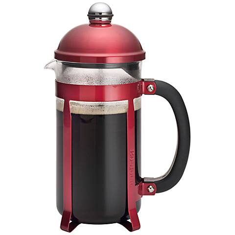 BonJour Coffee and Tea Maximus Red 8-Cup French Press