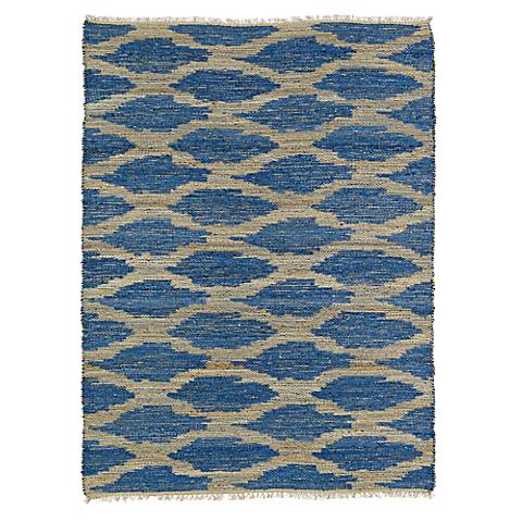 Kaleen Kenwood KEN01-22 Navy Blue Jute Reversible Area Rug