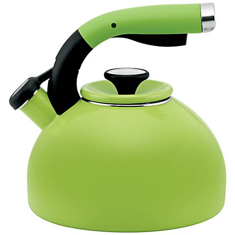Circulon Kiwi Green 2-Quart Morning Bird Tea Kettle