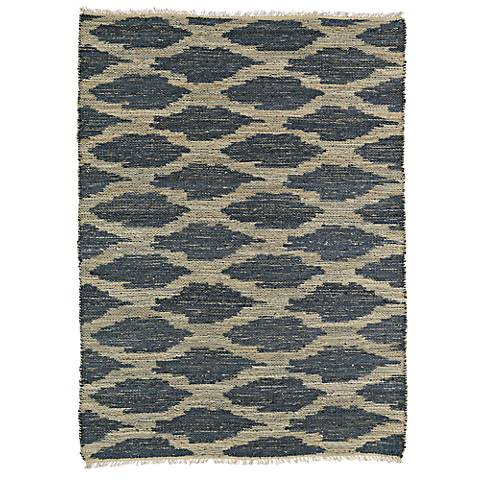 Kaleen Kenwood KEN01-10 Denim Blue Jute Reversible Area Rug