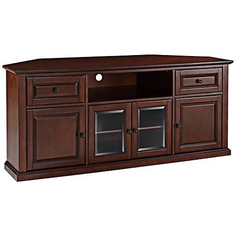 """Alexandria 4-Door Vintage Mahogany 60"""" Corner TV Stand"""