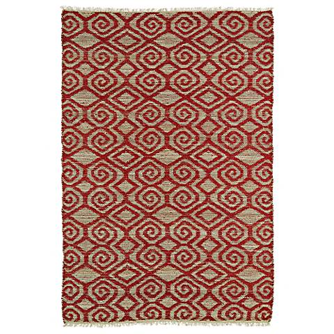 Kaleen Kenwood KEN02-25 Dark Red Jute Reversible Area Rug