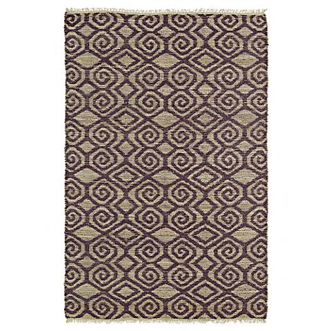 Kaleen Kenwood KEN02-87 Plum Purple Jute Reversible Rug