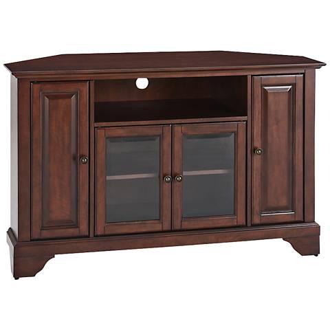 """LaFayette 4-Door Vintage Mahogany 48"""" Corner TV Stand"""
