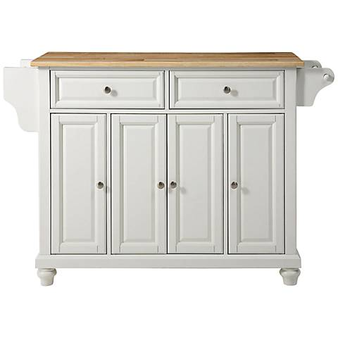 Cambridge White with Natural Top 4-Door Kitchen Island