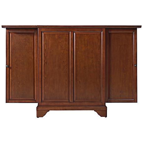 LaFayette Classic Cherry 2-Door Expandable Bar Cabinet