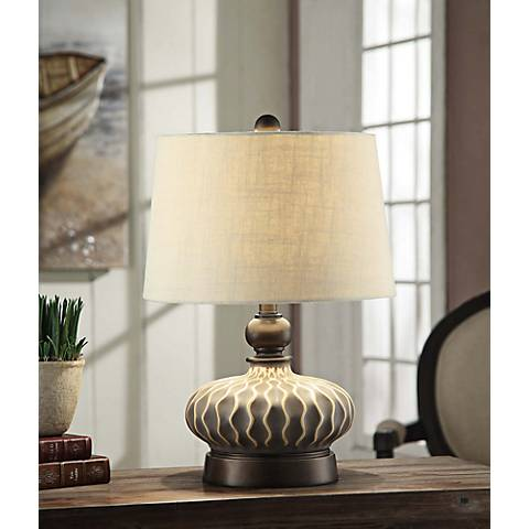 Crestview Collection Providence Gray Ceramic Table Lamp
