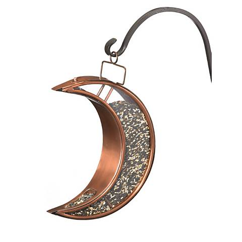 Good Directions Crescent Moon Venetian Bronze Bird Feeder