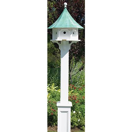 Good Directions Lazy Hill Hammersley White Birdhouse Post
