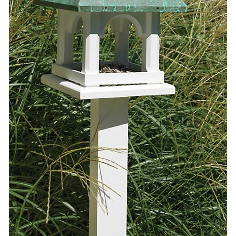 Good Directions Lazy Hill Medium Vinyl White Birdhouse Post
