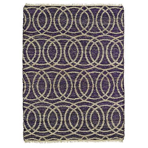 Kaleen Kenwood KEN03-95 Purple Circles Jute Reversible Rug