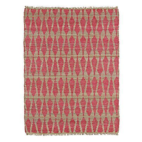 Kaleen Kenwood KEN04-92 Pink Jute Reversible Area Rug
