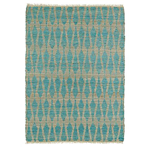Kaleen Kenwood KEN04-91 Teal Jute Reversible Area Rug