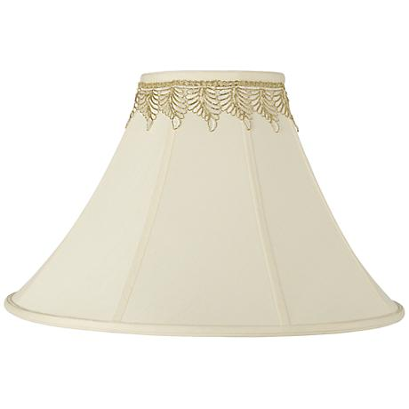Bell Shade with Embroidered Leaf Trim 7x20x13.75 (Spider)