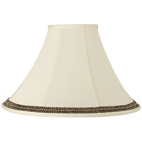 Bell Shade with Black and Gold Trim 7x20x13.75 (Spider)