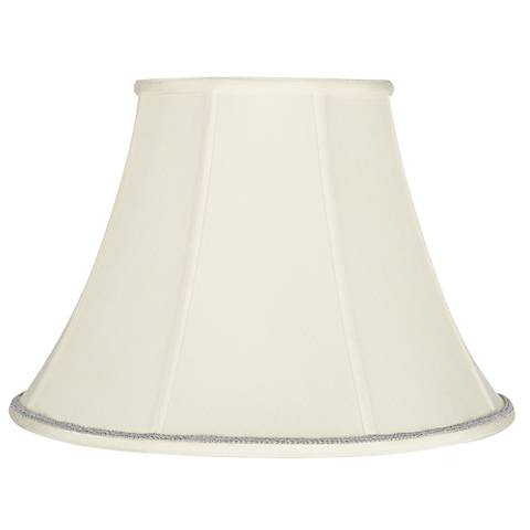 Creme Bell Shade with Silver Scroll Trim 9x18x13 (Spider)