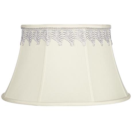 Creme Bell Shade with Metallic Leaf Trim 13x19x11 (Spider)