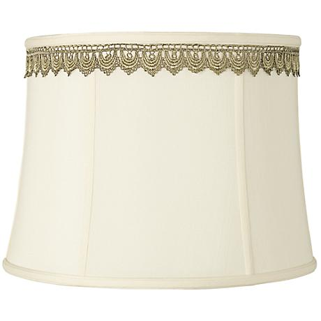 Drum Shade with Gold Lace Trim 14x16x12 (Spider)