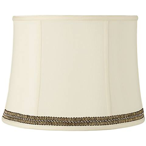 Drum Shade with Black and Gold Trim 14x16x12 (Spider)