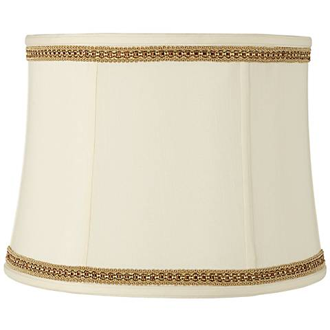 Drum Shade with Two Tone Braid Trim 14x16x12 (Spider)