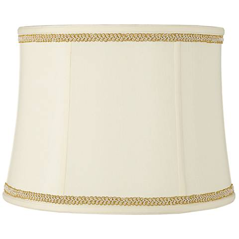 Drum Shade with Gold with Ivory Trim 14x16x12 (Spider)