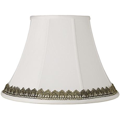 White Shade with Gold Lace Trim 9x18x13 (Spider)
