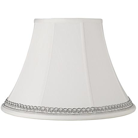White Shade with Silver Looped Trim 9x18x13 (Spider)