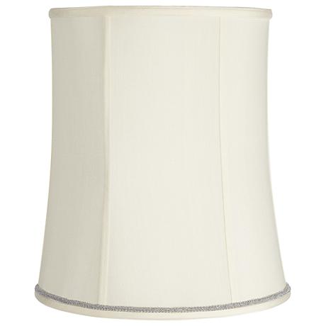 Creme Deep Shade with Silver Scroll Trim 12x14x16 (Spider)