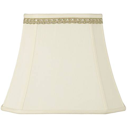 Rectangle Shade with Lace Rhinestone Trim 10x16x13 (Spider)